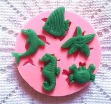 Silicone Sea Animal Fondant Mold Sugar Craft Cake Baking Decorating Tools Mould