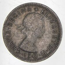 Roughly the Size of a Quarter 1954 Australia 1 Shilling World Silver Coin *105