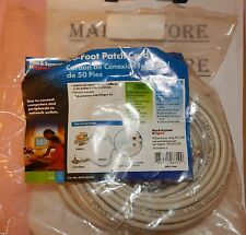 Ethernet LAN Network Cable  50FT   RJ45 CAT5 CAT5E WHITE   15M *FAST SHIPPING*