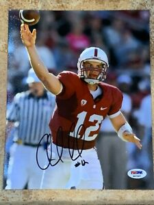 ANDREW LUCK 12 COLTS 8*10 PHOTO FILE NFL & STANFORD PSA DNA AUTOGRAPH ROOKIE LOT