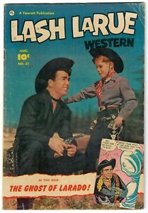Lash LaRue Western (1949) #31 Photo Cover Fawcett Movie Hero Great Art Larado VG