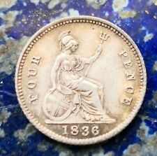 More details for 1836 william iv silver 4 pence/ groat #548