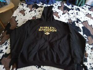 GENUINE HARLEY-DAVIDSON,SHARP BLACK, XL HOODIE SWEATSHIRT