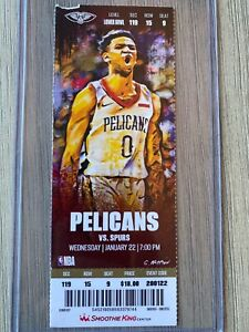 Zion Williamson NBA Pelicans Debut Ticket Stub - small tear in upper left corner