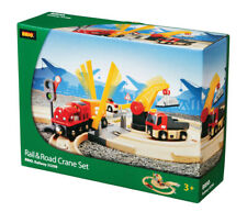 BRIO 33208 Rail & Road Crane Set - Railway Sets Age 3-5 years / 26 pcs