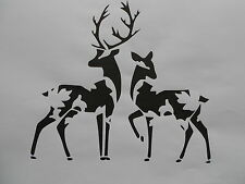Schablone Hirsche auf A4