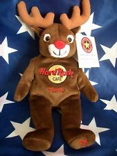 HRC Hard Rock Cafe Tokyo Christmas 2002 Reindeer Beara Teddy Herrington LE