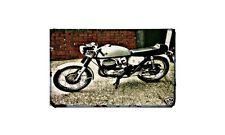 Bultaco Metralla Motorbike Sign Metal Retro Aged Aluminium Bike