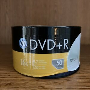 SEALED Pack of 50 HP DVD+R Discs 16x Speed 4.7 GB 120 Minutes