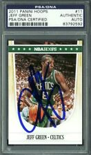 Celtics Jeff Green Authentic Signed Card 2011 Panini Hoops #11 PSA/DNA Slabbed