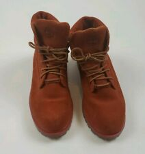 Timberland Unisex  Genuine Leather orange  boots size 4