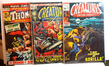 #12,17,23 Creatures on Loose 1970s Marvel Comic Book Set of 3- G/Vg (Cbset-266)
