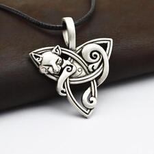 Trinity Knot Celtic Cat Necklace