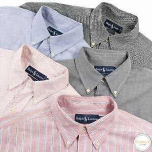 LOT OF 5 Ralph Lauren Multi Cotton Check Striped Oxford Btn Down Dress Shirts 16
