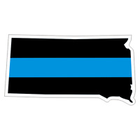 South Dakota SD State Thin Blue Line Police Sticker / Decal #218 Made in U.S.A.