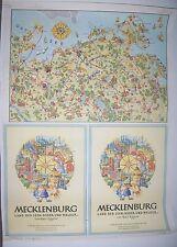 DDR Druckerzeugnis Spika Brettspiel Mecklenburg Kurt Eggert Poster um 1950 !