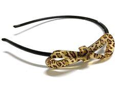 Leopard Animal Print Bow Ribbon Plastic Light Headband Hair Band UK
