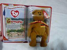 Germania Bear German Happy Meal McDonald TY International Bears II Beanie Sealed