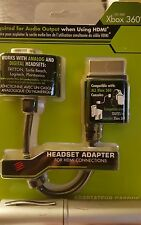 New Sealed! Xbox 360 Headset Adapter For HDMI Connections