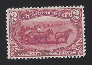 US #286 1898 Copper Red Wmk 191 Perf 12 MNH VF Scv $72.50