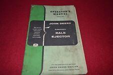 John Deere Bale Ejector Operator's Manual Gdsd6