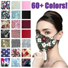 Women's Reusable Washable Fashion Print 3 Protection Layer Face Mask Covering
