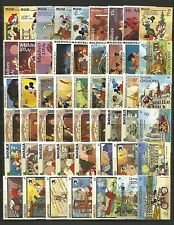 WALT DISNEY CARTOON STAMPS COLLECTION PACKET of 100 Different Stamps MNH