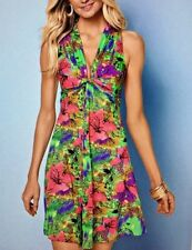 Venus Sleeveless Knot Front Floral V Neck Dress Women's Size XL
