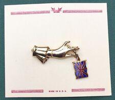 1940s elegante Mano & Smaltato Spilla di Union Jack.