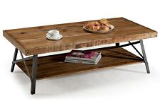 Reclaimed Wood Coffee Table Industrial Style Metal Rustic Furniture Real Wooden