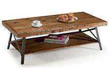Reclaimed Wood Coffee Table Industrial Style Metal Rustic Furniture Real Wooden