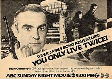 1979 TV MOVIE AD~JAMES BOND 007~YOU ONLY LIVE TWICE~SEAN CONNERY & MIE HAMA