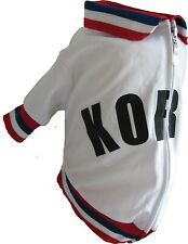 The Mutley Collection Dog clothes, Soccer Jersey, Korea Olympic Track Jacket,
