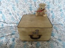 "15"" Shabby Chic Vintage Faux Skin Effect Vanity Suitcase Retro Display / Prop"