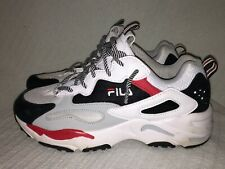 Men's Size 7 US FILA 1RM00586-102 Ray Tracer White Black Hi Res Low-Top Sneakers