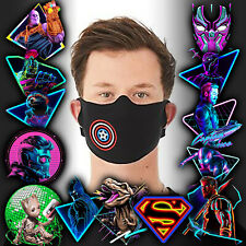 Spiderman Marvel Avengers Face Mask Personalised Kids Adults Washable DC Comics