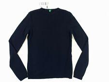 New Ladies Sweater Navy Jumper Crew Neck Wool United Colors of Benetton S