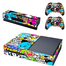 Big Graffiti Xbox One Console SKIN + 2x Controller Stickers Decal FacePlate Pad