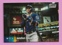 2020 Topps Stadium Club Chrome Refractor Keston Hiura #124 Milwaukee Brewers