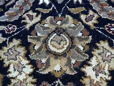 """ Madras Hand Tufted Rug Oriental Deep Blue Brown Gold 8'3""x5' Msrp$4000+ """