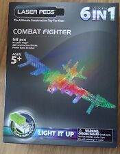 Combat Fighter Laser Pegs 6 models in 1 light up construction toy block