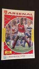 football programmes  Arsenal V Man United 1989/90