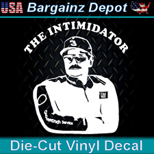 Vinyl Decal .. Dale Earnhardt THE INTIMIDATOR .. NASCAR Laptop Car Sticker