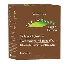 Mina Ibrow Henna Light Brown Refill Pack & Tinting Kit
