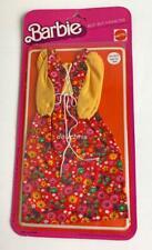 1975 Barbie Best Buy Fashions 9575 Mattel NRFP Long Dress Red Flowers New 9159