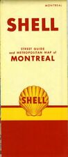 1954 Shell Road Map: Montreal NOS