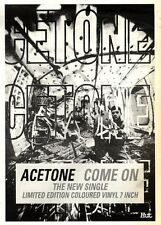 ARTICLE - ADVERT 19/11/94PGN07 ACETONE : COME SINGLE 7X5""
