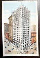 Illinois IL postcard Chicago, North American Building Vintage