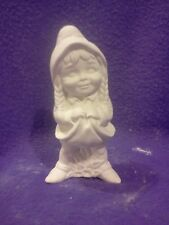 """FREE SHIPPING Susie Gnome 5"""" ready to paint ceramic bisque"""