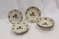 Joy of Christmas Bread Plates and Bowls Set of 8